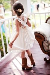 Cute bridesmaid dresses for little girls ideas 29